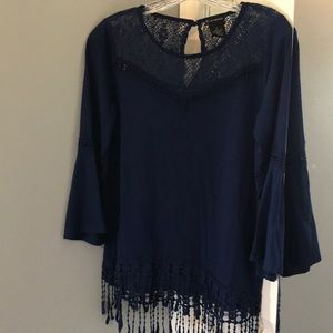Navy Blue New Directions Blouse
